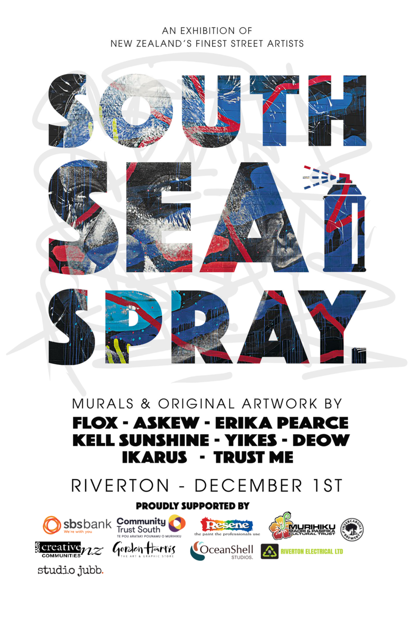 South Sea Spray / NZ's Finest Street Artists - Mural Painting & Exhibition