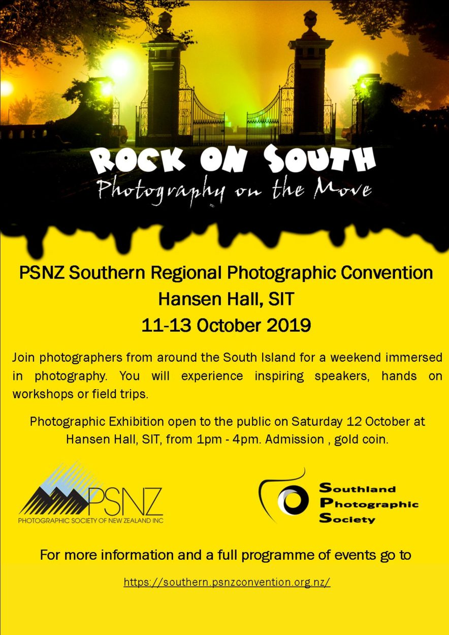 PSNZ Southern Regional Photographic Convention