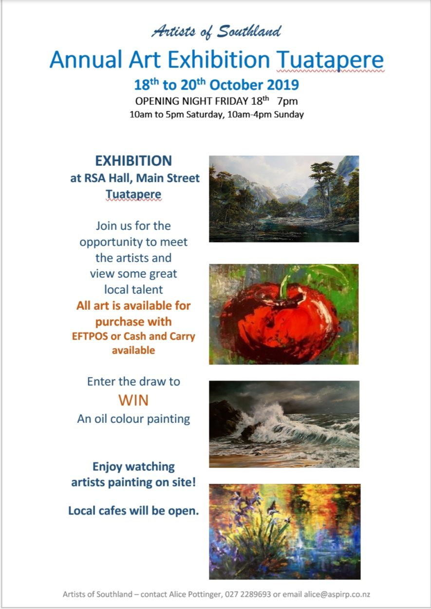 Annual Art Exhibition Tuatapere