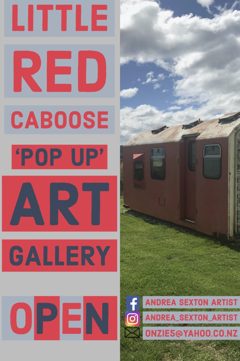 'Lil Red Caboose' Pop up Art Gallery